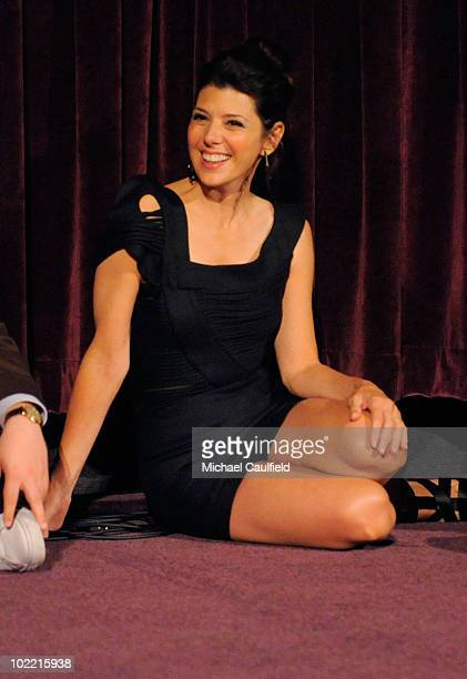 Actress Marisa Tomei speaks at the 'Cyrus' gala screening during the 2010 Los Angeles Film Festival held at Regal Cinemas at LA Live Downtown on June...