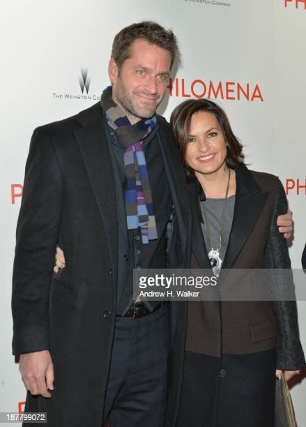 Actress Mariska Hargitay and husband Peter Hermann attend the premiere of 'Philomena' hosted by The Weinstein Company at Paris Theater on November 12...