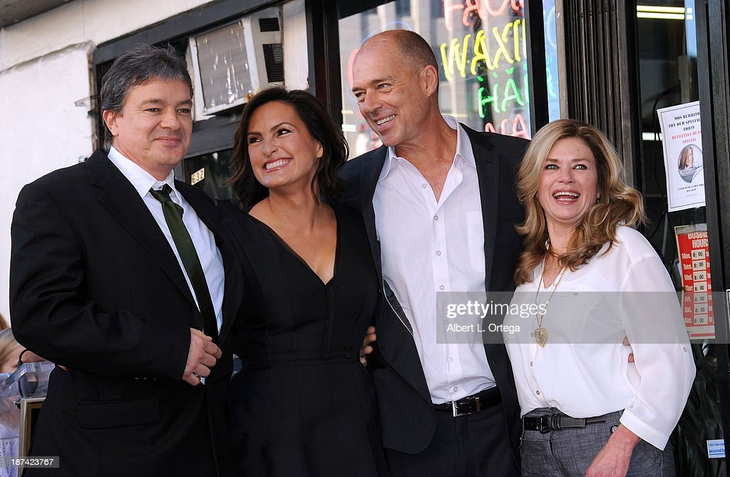 Actress Mariska Hargitay and siblings Mickey Hargitay Jr., Zoltan Hargitay and Jayne Marie Mansfield attend Mariska Hargitay's Star ceremony on The Hollywood Walk of Fame held on November 8, 2013 in Hollywood, California.