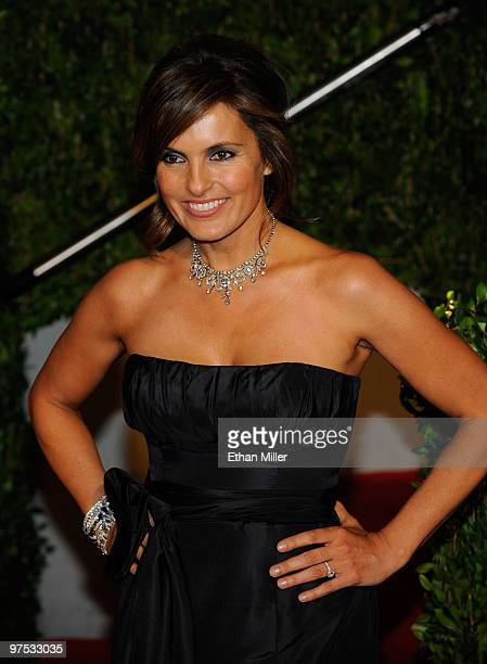 Actress Mariska Hargitay arrives at the 2010 Vanity Fair Oscar Party hosted by Graydon Carter held at Sunset Tower on March 7 2010 in West Hollywood...