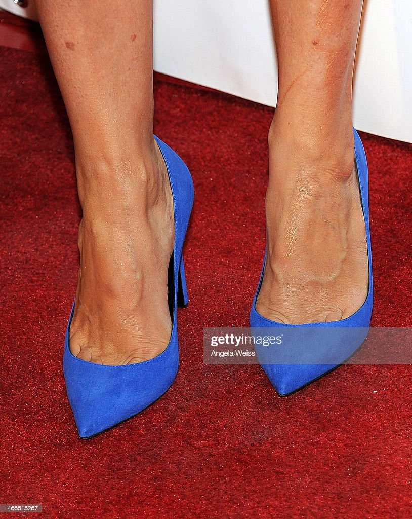 Actress Mariska Hargitay (shoe detail) arrives at the 41st Annual Annie Awards at Royce Hall, UCLA on February 1, 2014 in Westwood, California.