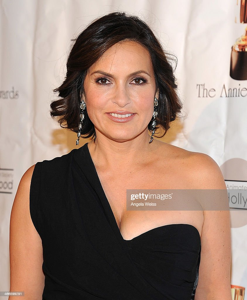 Actress <a gi-track='captionPersonalityLinkClicked' href=/galleries/search?phrase=Mariska+Hargitay&family=editorial&specificpeople=204727 ng-click='$event.stopPropagation()'>Mariska Hargitay</a> arrives at the 41st Annual Annie Awards at Royce Hall, UCLA on February 1, 2014 in Westwood, California.