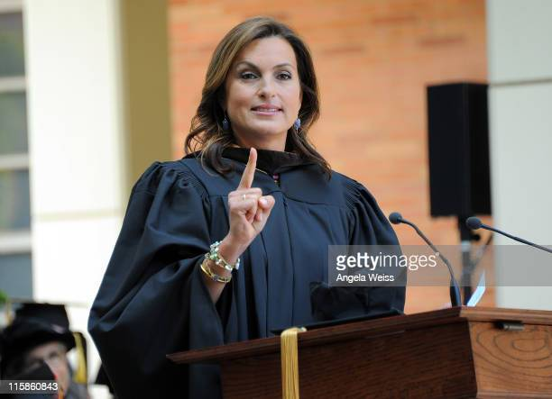 Actress Mariska Hargitay attends the 2011 UCLA School of Theater Film And Television Commencement at UCLA Campus on June 10 2011 in Westwood...