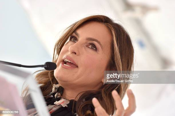 Actress Mariska Hargitay attends the ceremony honoring Debra Messing with star on the Hollywood Walk of Fame on October 6 2017 in Hollywood California