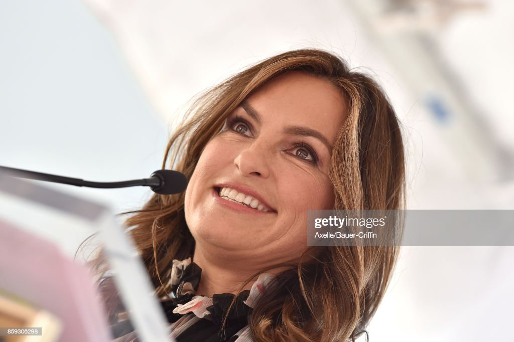 Actress Mariska Hargitay attends the ceremony honoring Debra Messing with star on the Hollywood Walk of Fame on October 6, 2017 in Hollywood, California.