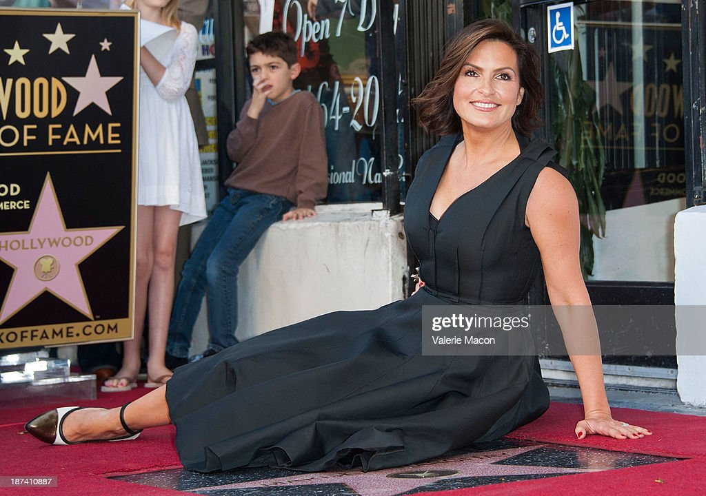 Actress <a gi-track='captionPersonalityLinkClicked' href=/galleries/search?phrase=Mariska+Hargitay&family=editorial&specificpeople=204727 ng-click='$event.stopPropagation()'>Mariska Hargitay</a> attends the ceremony honoring her with a Star on The Hollywood Walk of Fame on November 8, 2013 in Hollywood, California.