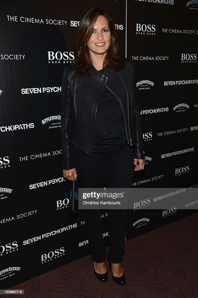 Actress Mariska Hargitay attends The Cinema Society with Hugo Boss and Appleton Estate screening of 'Seven Psychopaths' at Clearview Chelsea Cinemas on October 10, 2012 in New York City.