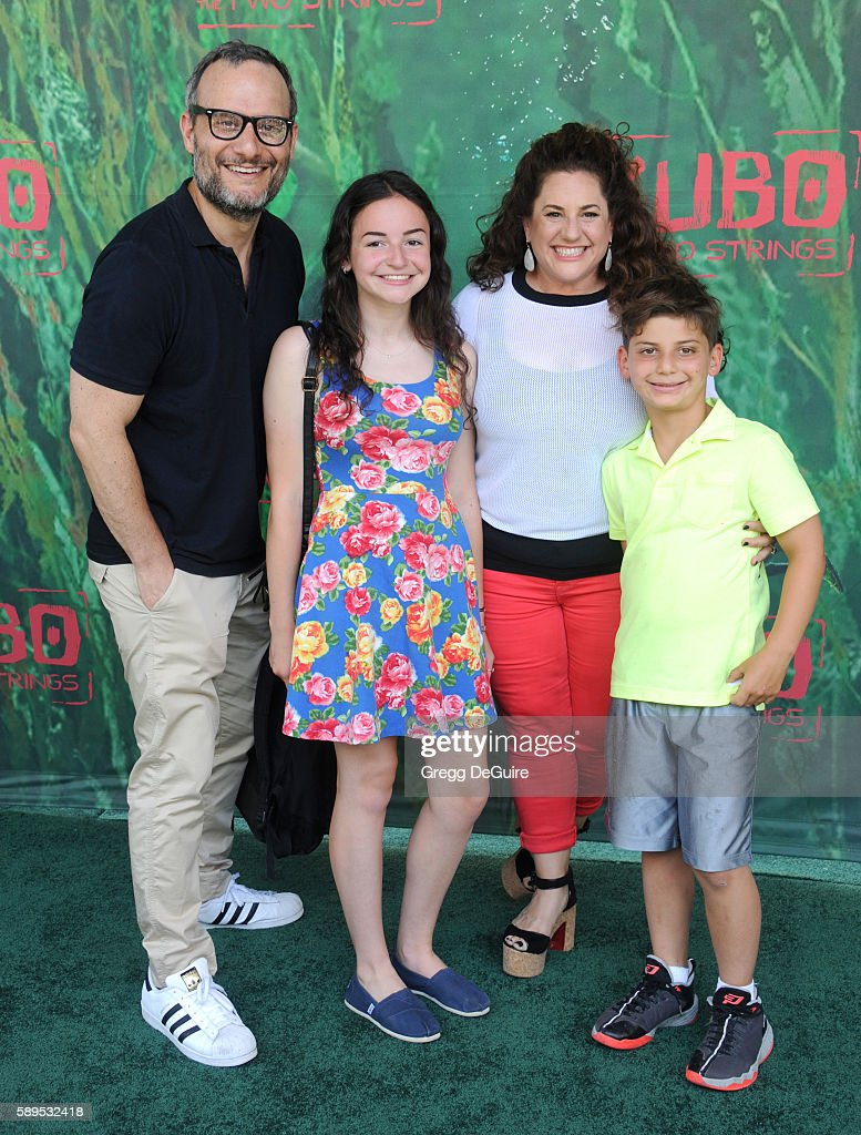 Actress Marissa Jaret Winokur and husband Judah Miller arrive at the premiere of Focus Features' 'Kubo And The Two Strings' at AMC Universal City Walk on August 14, 2016 in Universal City, California.