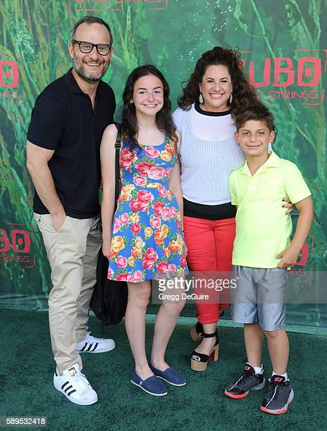 Actress Marissa Jaret Winokur and husband Judah Miller arrive at the premiere of Focus Features' 'Kubo And The Two Strings' at AMC Universal City...