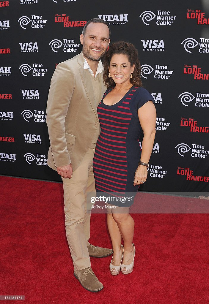 Actress Marissa Jaret Winokur (R) and Judah Miller arrive at 'The Lone Ranger' World Premiere at Disney's California Adventure on June 22, 2013 in Anaheim, California.