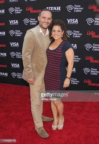 Actress Marissa Jaret Winokur and Judah Miller arrive at 'The Lone Ranger' World Premiere at Disney's California Adventure on June 22 2013 in Anaheim...