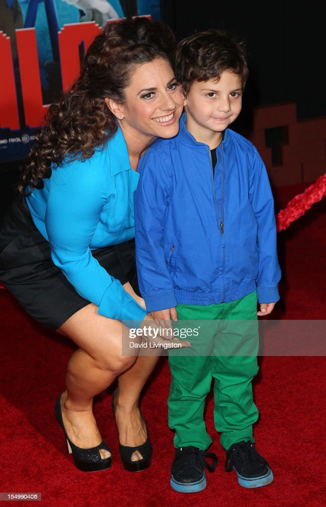 Actress <a gi-track='captionPersonalityLinkClicked' href=/galleries/search?phrase=Marissa+Jaret+Winokur&family=editorial&specificpeople=206425 ng-click='$event.stopPropagation()'>Marissa Jaret Winokur</a> and son Zev Miller attend the premiere of Walt Disney Animation Studios' 'Wreck-It Ralph' at the El Capitan Theatre on October 29, 2012 in Hollywood, California.