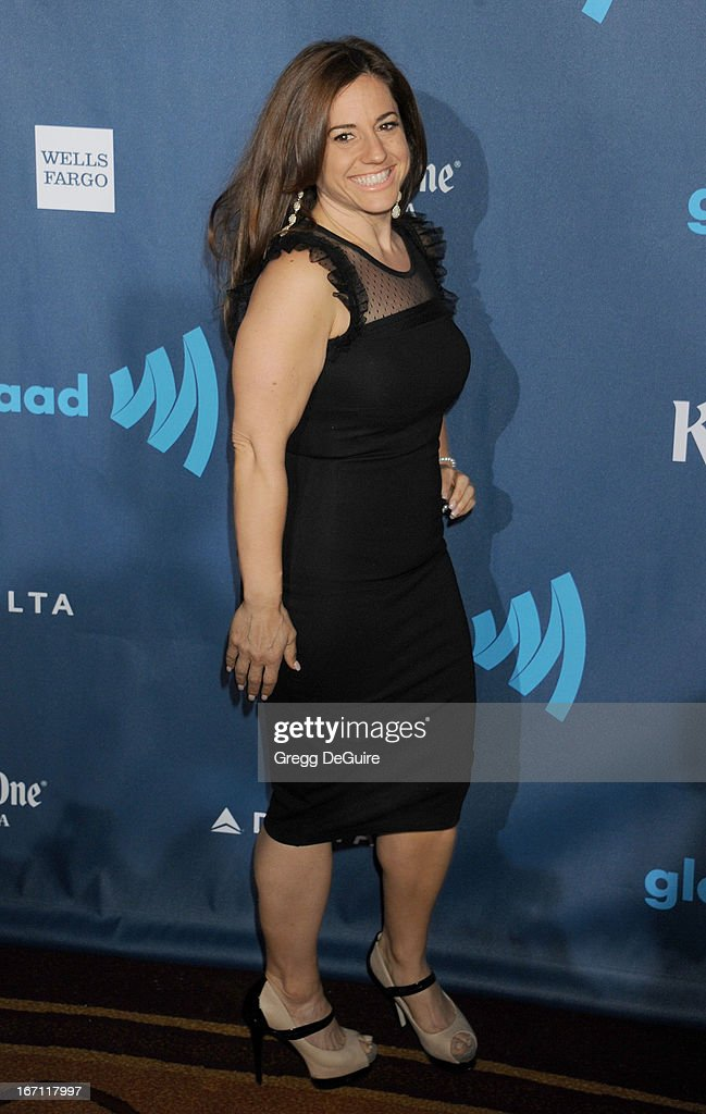 Actress Marissa Jaret Winokur arrives at the 24th Annual GLAAD Media Awards at JW Marriott Los Angeles at L.A. LIVE on April 20, 2013 in Los Angeles, California.