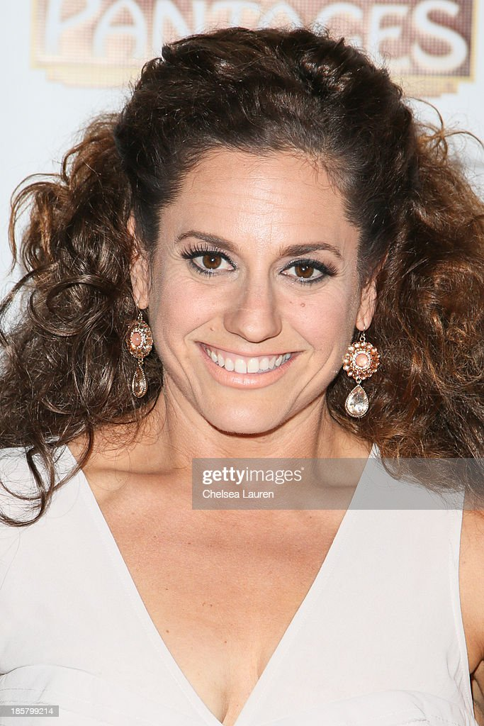 Actress Marissa Jaret Winokur arrives at the opening night red carpet for 'Evita' at the Pantages Theatre on October 24, 2013 in Hollywood, California.