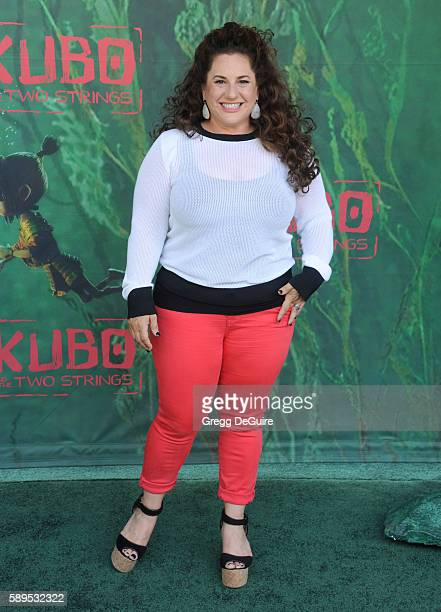 Actress Marissa Jaret Winokur arrives at the premiere of Focus Features' 'Kubo And The Two Strings' at AMC Universal City Walk on August 14 2016 in...