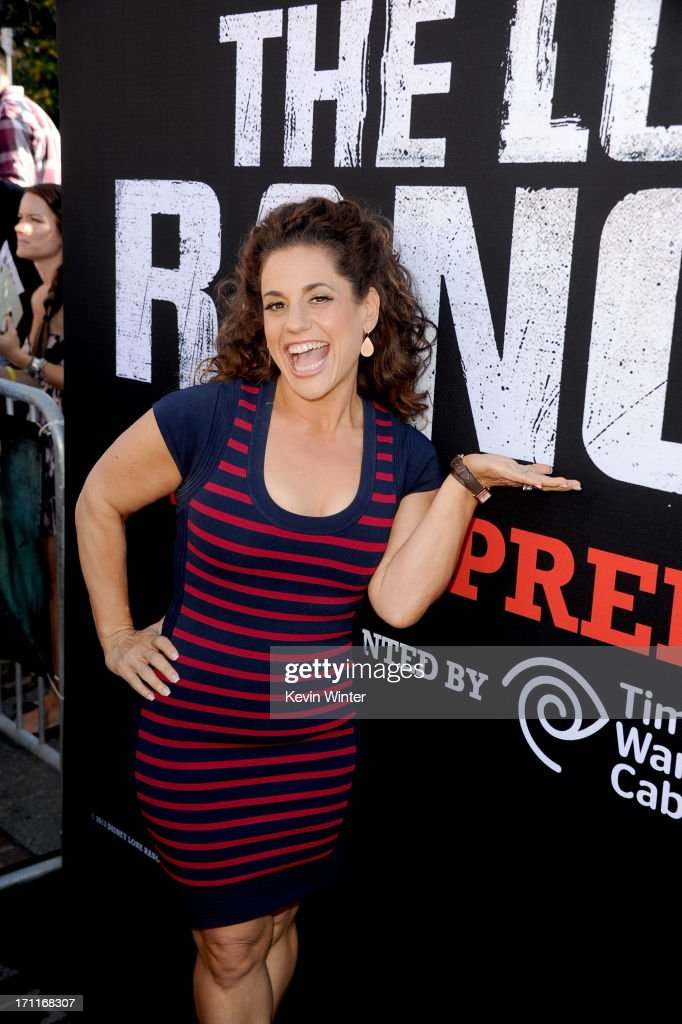 Actress Marissa Jaret Winokur arrives at the premiere of Walt Disney Pictures' 'The Lone Ranger' at Disney California Adventure Park on June 22, 2013 in Anaheim, California.