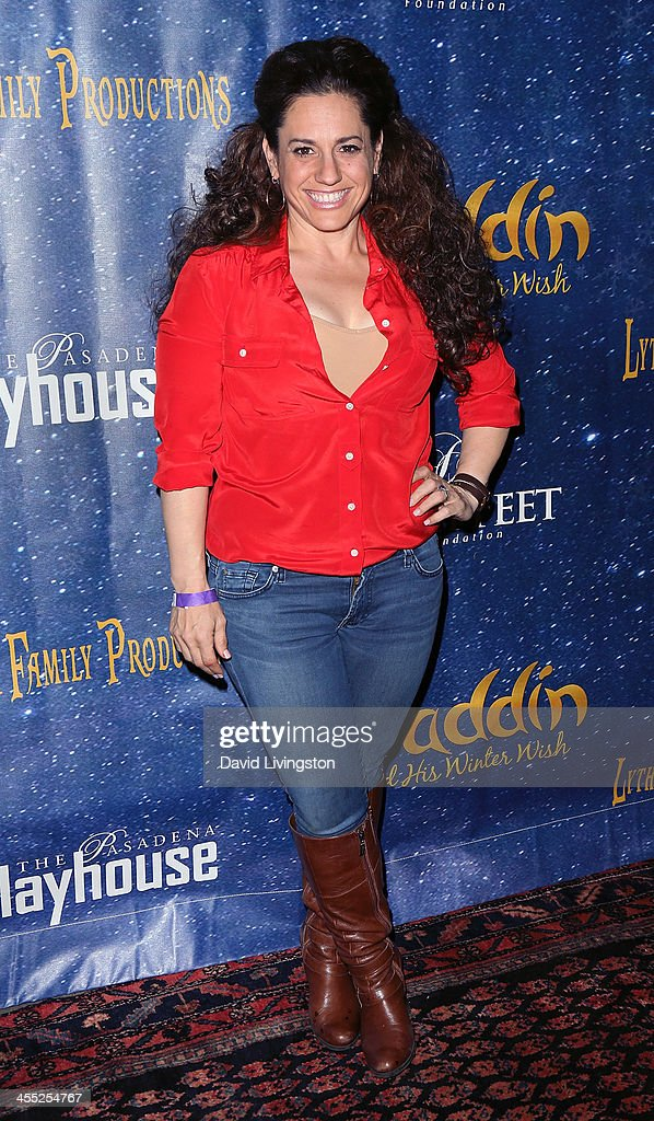 Actress <a gi-track='captionPersonalityLinkClicked' href=/galleries/search?phrase=Marissa+Jaret+Winokur&family=editorial&specificpeople=206425 ng-click='$event.stopPropagation()'>Marissa Jaret Winokur</a> attends 'Aladdin and His Winter Wish' opening night at the Pasadena Playhouse on December 11, 2013 in Pasadena, California.