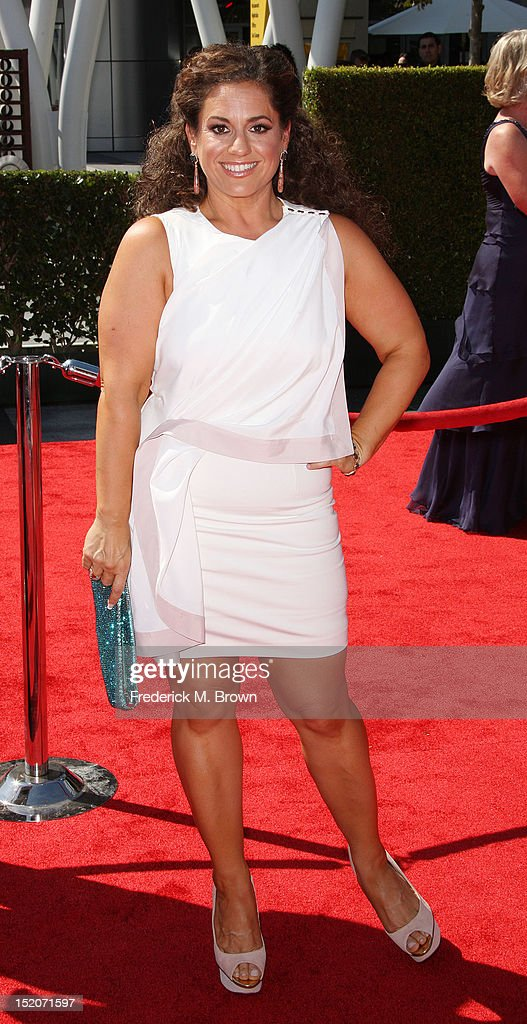Actress Marissa Jaret Winokur attends The Academy Of Television Arts & Sciences 2012 Creative Arts Emmy Awards at the Nokia Theatre L.A. Live on September 15, 2012 in Los Angeles, California.