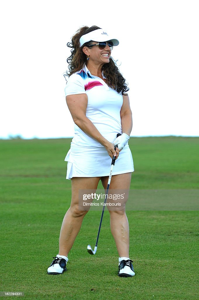 Actress Marissa Jaret Winokur attends the Golf Clinic with Greg Norman and Golf Tournament during Day Three of the Sandals Emerald Bay Celebrity Getaway And Golf Weekend on September 29, 2013 at Sandals Emerald Bay in Great Exuma, Bahamas.
