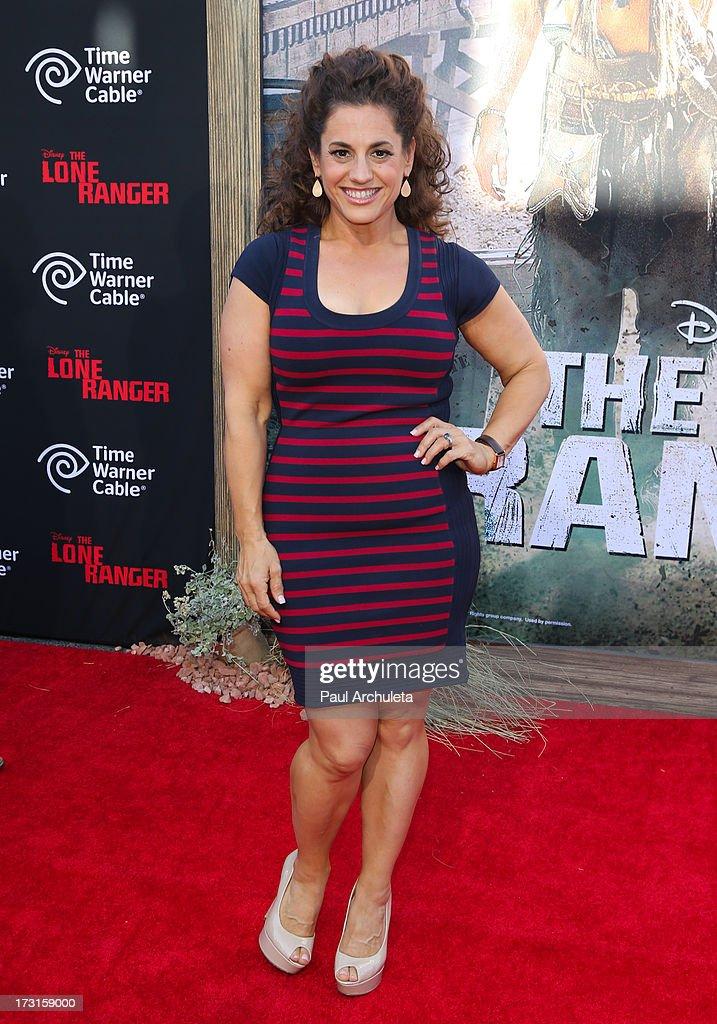 Actress Marissa Jaret Winokur attends 'The Lone Ranger' Los Angeles premiere at Disney California Adventure Park on June 22, 2013 in Anaheim, California.