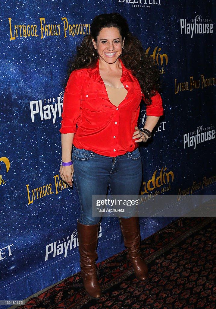 Actress Marissa Jaret Winokur attends the opening night of 'Aladdin And His Winter Wish' at the Pasadena Playhouse on December 11, 2013 in Pasadena, California.