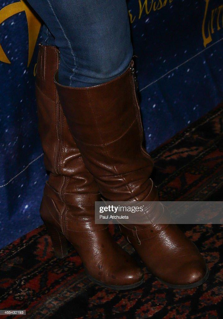 Actress Marissa Jaret Winokur (Shoe Detail) attends the opening night of 'Aladdin And His Winter Wish' at the Pasadena Playhouse on December 11, 2013 in Pasadena, California.
