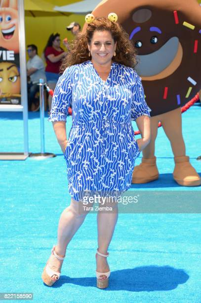 Actress Marissa Jaret Winokur attends the premiere of Columbia Pictures and Sony Pictures Animation's 'The Emoji Movie' at Regency Village Theatre on...