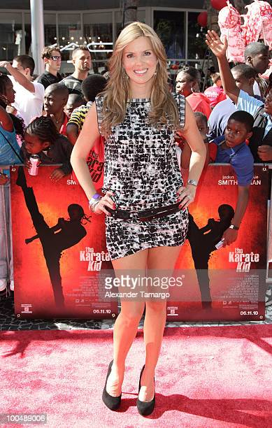 Actress Maritza Rodriguez attends The Karate Kid screening at Regal South Beach on May 24 2010 in Miami Florida