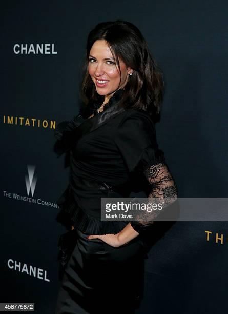 Actress Mariya Guzeeva attends the screening Of The Weinstein Company's 'The Imitation Game' hosted by Chanel at DGA Theater on November 10 2014 in...