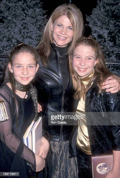 Actress Markie Post and daughters Katie Ross and Daisy Ross attend 'How the Grinch Stole Christmas' Universal City Premiere on November 8 2000 at...