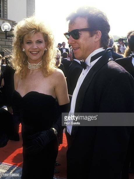 Actress Markie Post and husband Michael A Ross attend the 40th Annual Primetime Emmy Awards on August 28 1988 at Pasadena Civic Auditorium in...