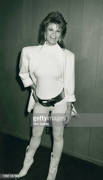 Actress Markie Post attends Welcome Home Vets Benefit Gala on February 24 1986 at the Forum in Los Angeles California