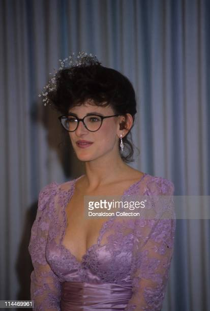 Actress Marlee Matlin at Academy Awards March 30 1987 in Los Angeles California