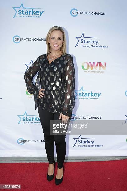 Actress Marlee Matlin attends the premiere of 'Operation Change' at Paramount Studios on June 18 2014 in Los Angeles California