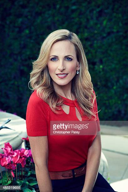 Actress Marlee Matlin is photographed for The Hollywood Reporter on January 30 2013 in Los Angeles California