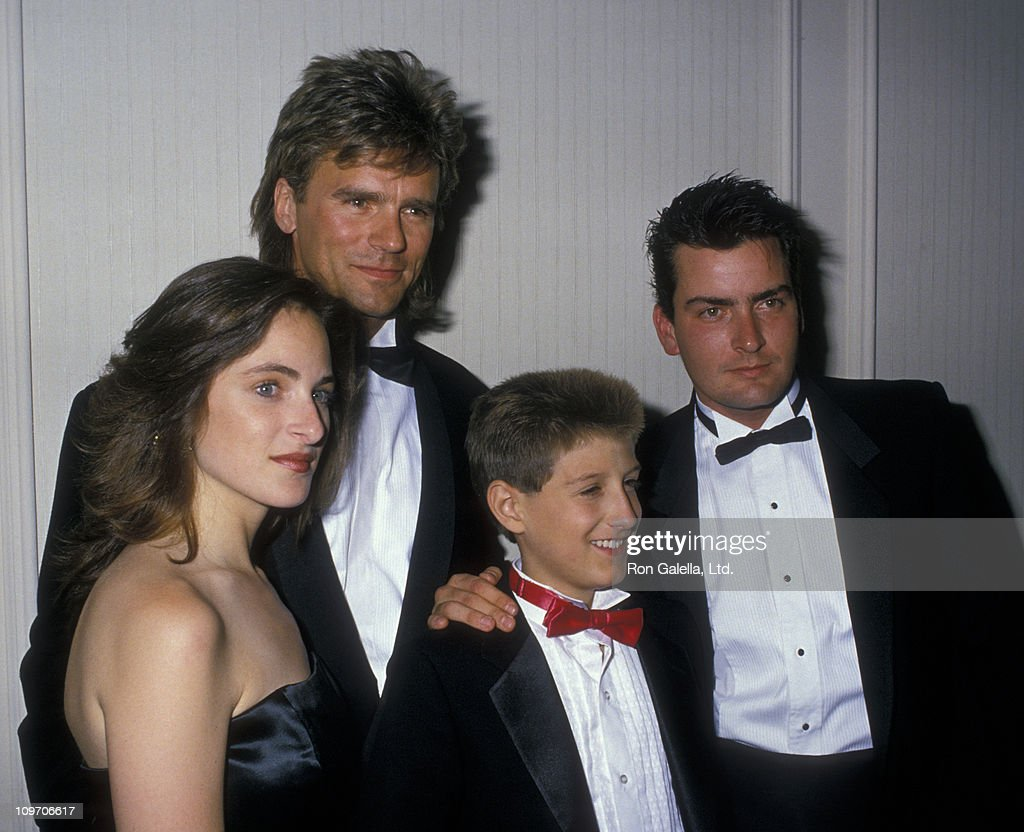 Actress <a gi-track='captionPersonalityLinkClicked' href=/galleries/search?phrase=Marlee+Matlin&family=editorial&specificpeople=173454 ng-click='$event.stopPropagation()'>Marlee Matlin</a>, <a gi-track='captionPersonalityLinkClicked' href=/galleries/search?phrase=Richard+Dean+Anderson+-+Actor&family=editorial&specificpeople=5221192 ng-click='$event.stopPropagation()'>Richard Dean Anderson</a>, Ryan White and actor <a gi-track='captionPersonalityLinkClicked' href=/galleries/search?phrase=Charlie+Sheen&family=editorial&specificpeople=206152 ng-click='$event.stopPropagation()'>Charlie Sheen</a> attend For Love Of Children AIDS Benefit Gala on July 8, 1988 at the Century Plaza Hotel in Century City, California.