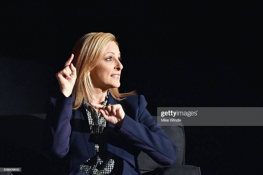 Actress Marlee Matlin speaks onstage during 'Children of a Lesser God' screening during day 4 of the TCM Classic Film Festival 2016 on May 1, 2016 in Los Angeles, California. 25826_008