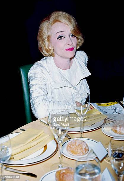 Actress Marlene Dietrich at a party on October 131967 in New York New York