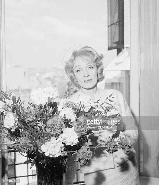 Actress Marlene Dietrich in Paris.