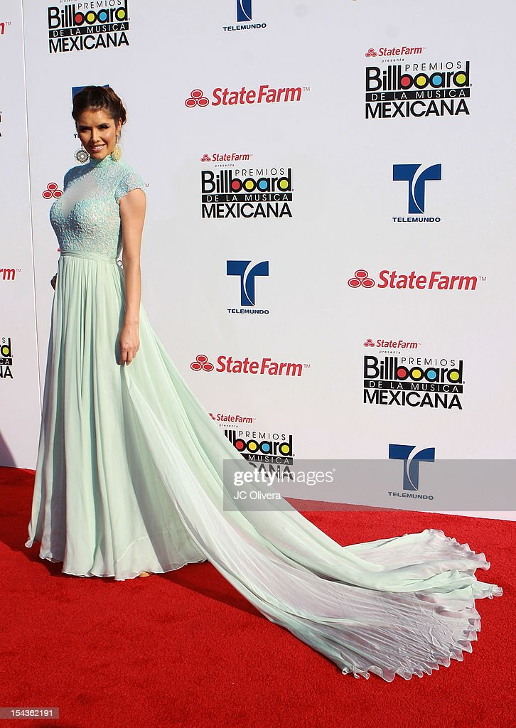 Actress Marlene Favela attends the 2012 Billboard Mexican Music Awards at The Shrine Auditorium on October 18, 2012 in Los Angeles, California.