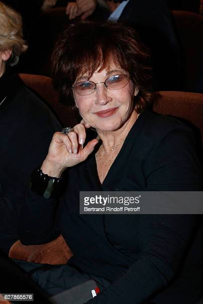 Actress Marlene Jobert attends Franck Ferrand performs in his Show 'Histoires' at Theatre Antoine on December 5 2016 in Paris France