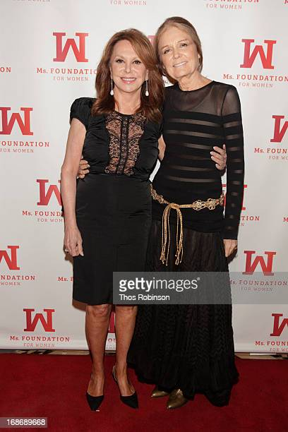 Actress Marlo Thomas and journalist Gloria Steinem attend Ms Foundation's Women of Vision 2013 Gala Honoring Diane Von Furstenberg at Cipriani on May...