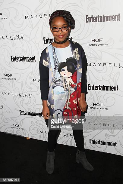 Actress Marsai Martin arrives at the Entertainment Weekly celebration honoring nominees for The Screen Actors Guild Awards at the Chateau Marmont on...