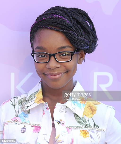Actress Marsai Martin arrives at Variety's Celebratory Brunch Event for Awards Nominees Benefitting Motion Picture Television Fund at Cecconi's on...