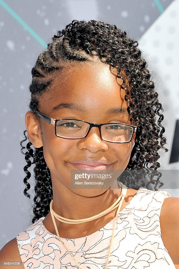 Actress <a gi-track='captionPersonalityLinkClicked' href=/galleries/search?phrase=Marsai+Martin&family=editorial&specificpeople=12819653 ng-click='$event.stopPropagation()'>Marsai Martin</a> attends the 2016 BET Awards at Microsoft Theater on June 26, 2016 in Los Angeles, California.