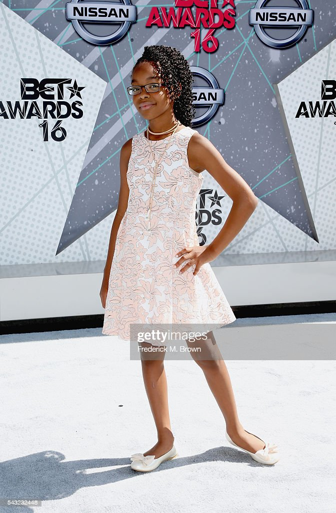Actress <a gi-track='captionPersonalityLinkClicked' href=/galleries/search?phrase=Marsai+Martin&family=editorial&specificpeople=12819653 ng-click='$event.stopPropagation()'>Marsai Martin</a> attends the 2016 BET Awards at the Microsoft Theater on June 26, 2016 in Los Angeles, California.