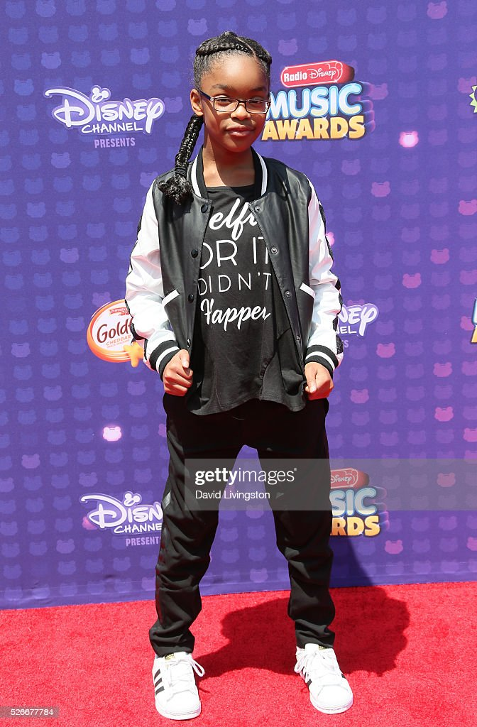 Actress Marsai Martin attends the 2016 Radio Disney Music Awards at Microsoft Theater on April 30, 2016 in Los Angeles, California.