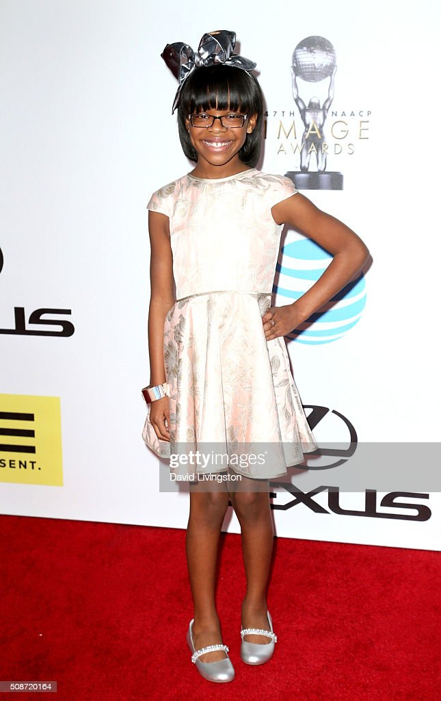Actress Marsai Martin attends the 47th NAACP Image Awards presented by TV One at Pasadena Civic Auditorium on February 5, 2016 in Pasadena, California.
