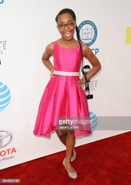 Actress Marsai Martin attends the 48th NAACP Image Awards at Pasadena Civic Auditorium on February 11 2017 in Pasadena California