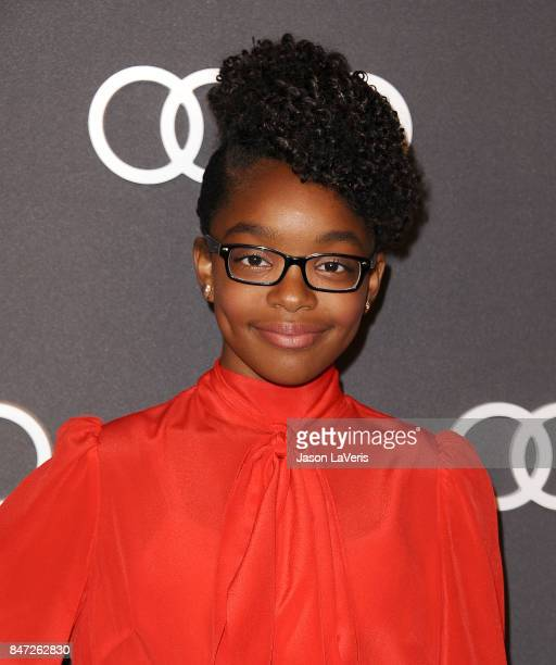Actress Marsai Martin attends the Audi celebration for the 69th Emmys at The Highlight Room at the Dream Hollywood on September 14 2017 in Hollywood...